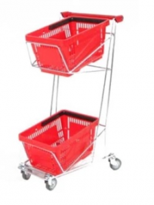 Trolley for 2 shopping baskets