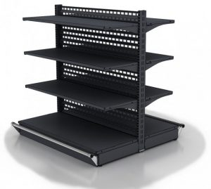 Shelves with center wall type 01